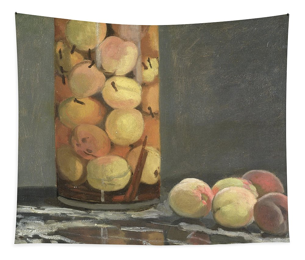 Claude Tapestry featuring the painting The Peach Glass by Claude Monet