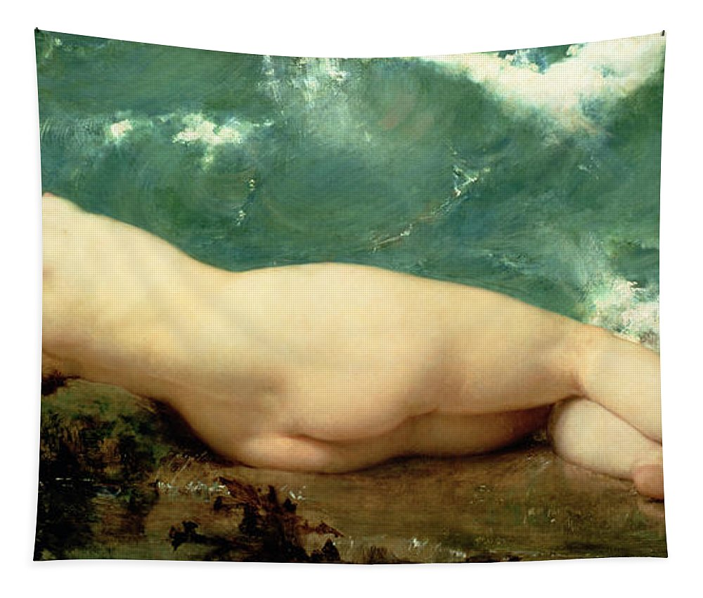 Nude Tapestry featuring the painting The Pearl And The Wave by Paul Baudry