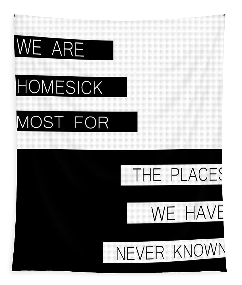 Homesick Tapestry featuring the digital art The Places We Have Never Known by Pati Photography