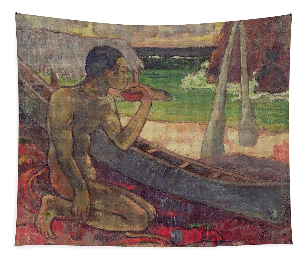 The Poor Fisherman Tapestry featuring the painting The Poor Fisherman by Paul Gauguin