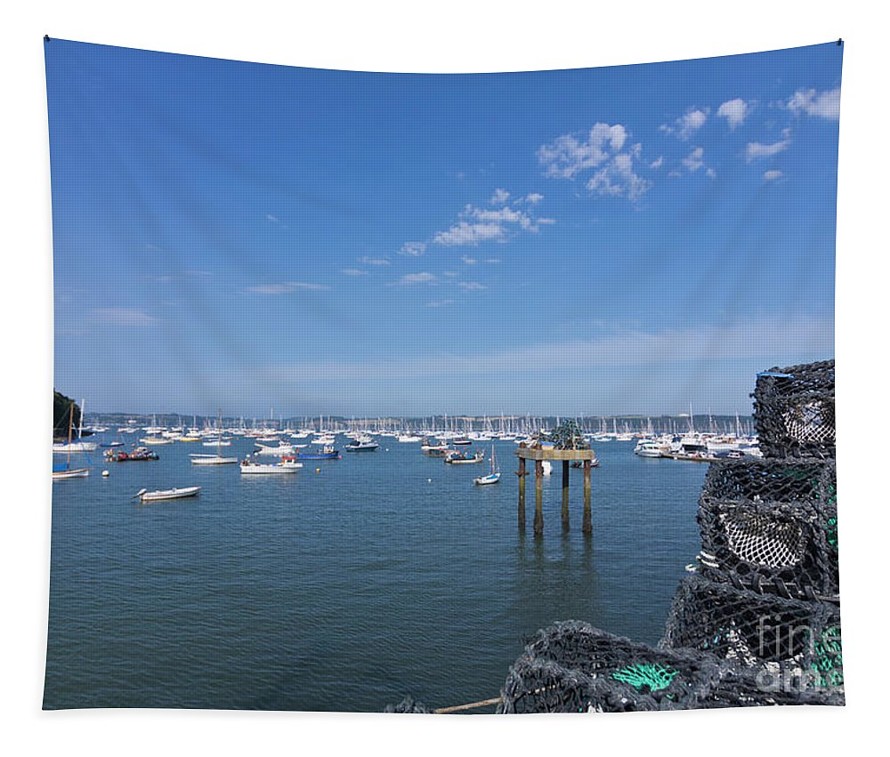 Mylor Tapestry featuring the photograph The Pot Man's View by Terri Waters
