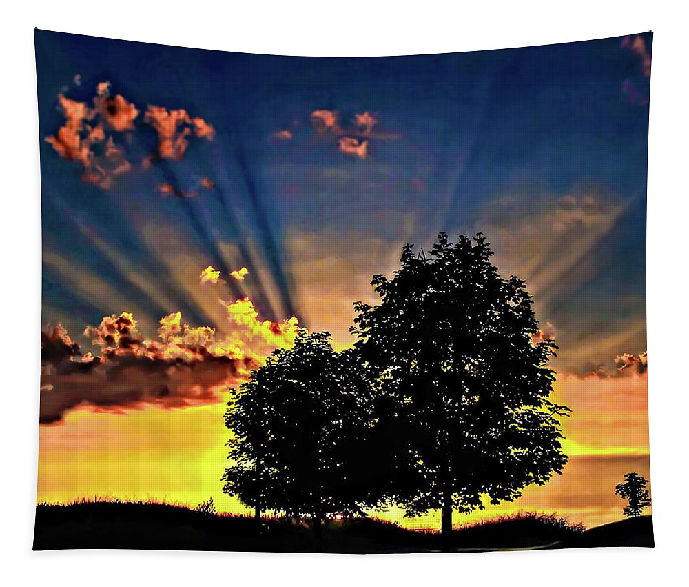 Sunset Tapestry featuring the photograph The Promise by Steve Harrington