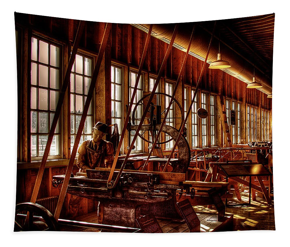 David Patterson Tapestry featuring the photograph The Red Barn Of The Boeing Company Iv by David Patterson