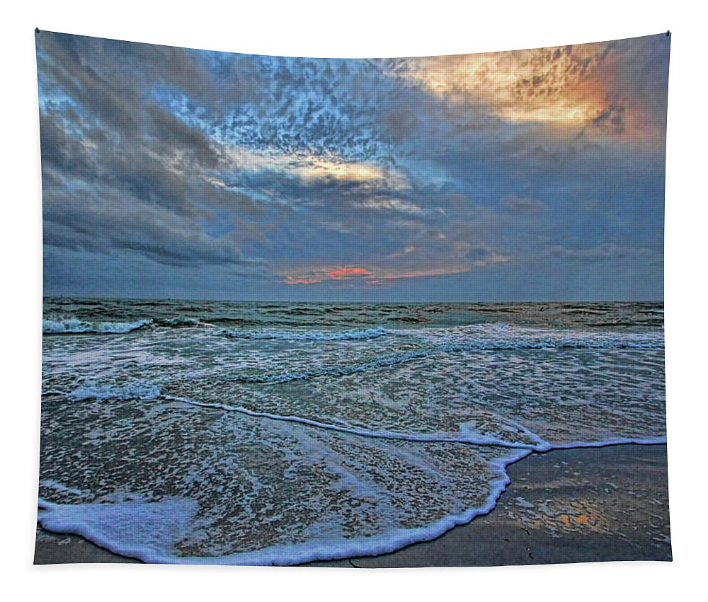Hh Photography Of Florida Tapestry featuring the photograph The Restless Sea by HH Photography of Florida