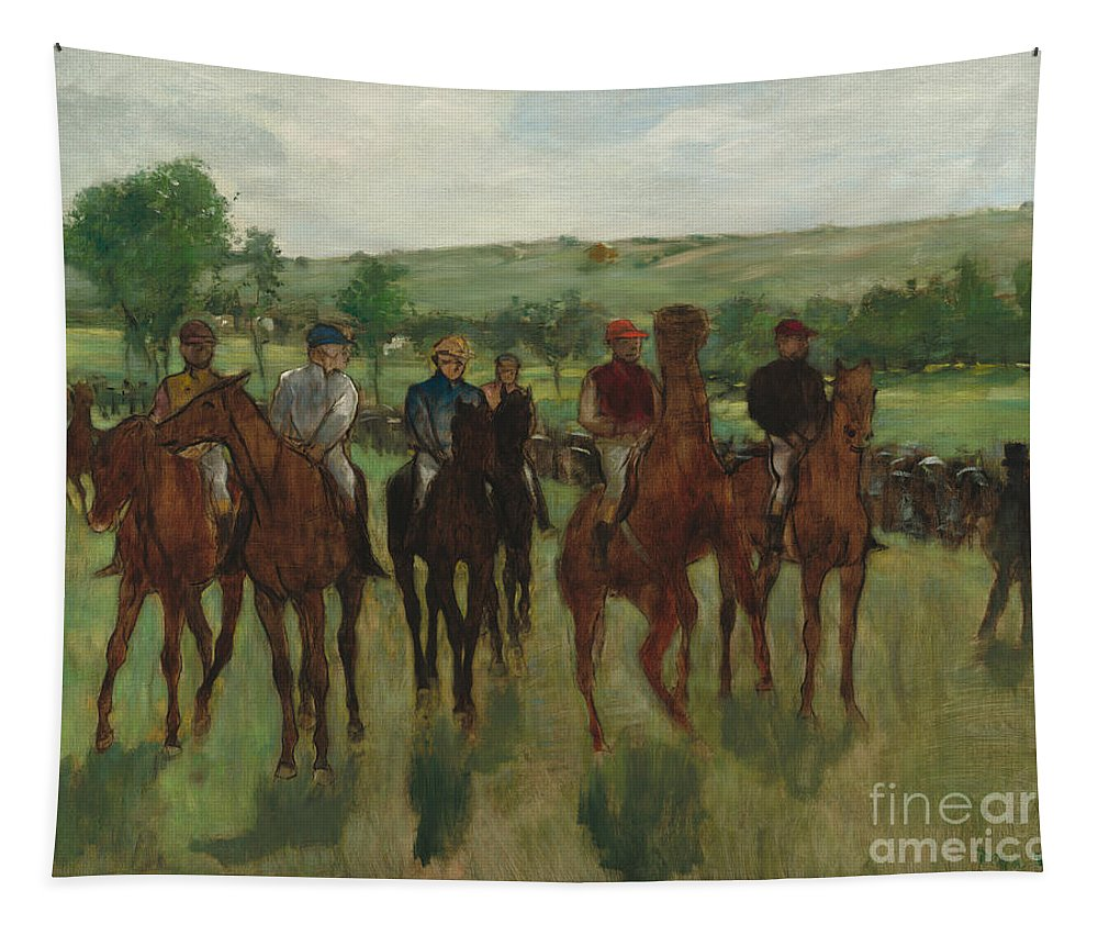 Degas Tapestry featuring the painting The Riders, 1885 by Edgar Degas