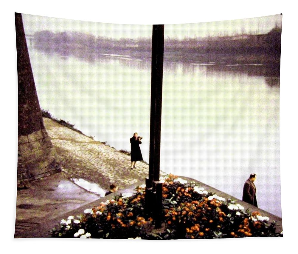 1955 Tapestry featuring the photograph The River Seine 1955 by Will Borden