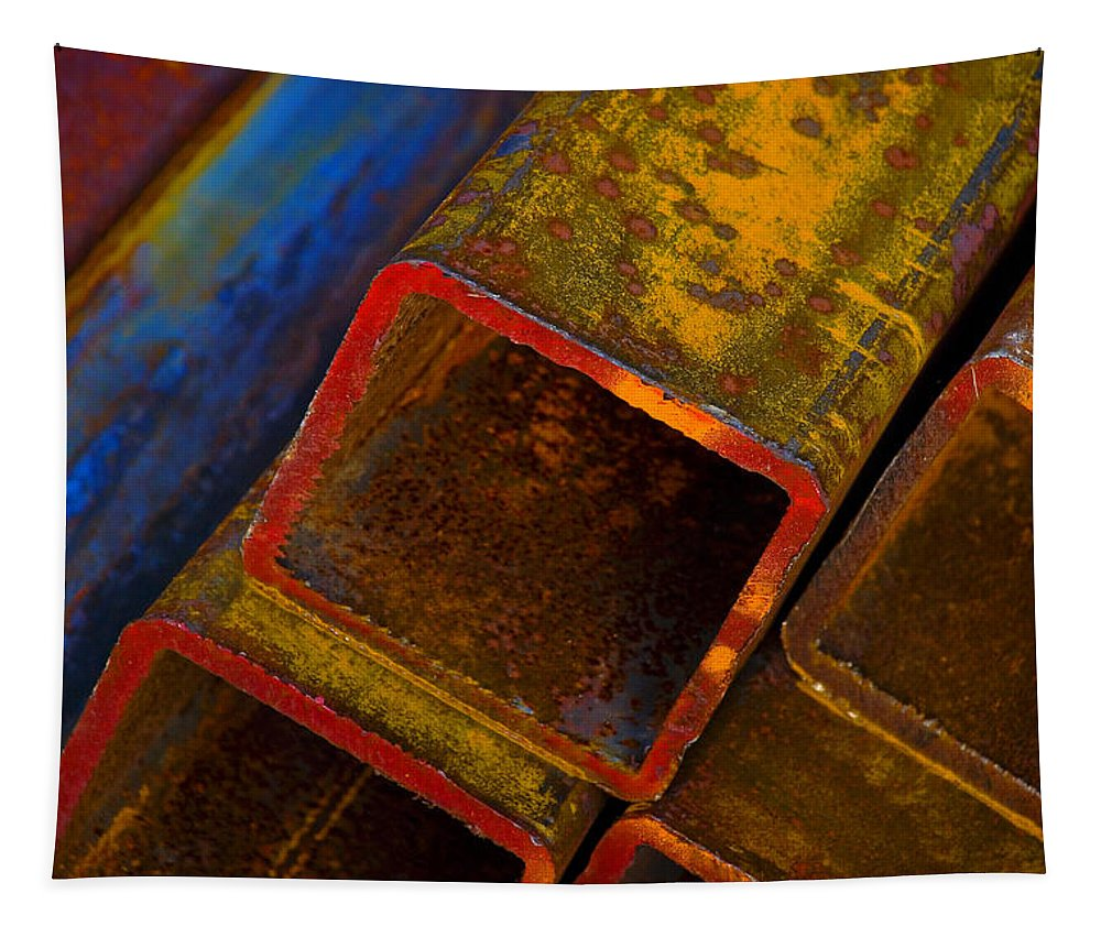 Abstract Tapestry featuring the photograph The River by Skip Hunt