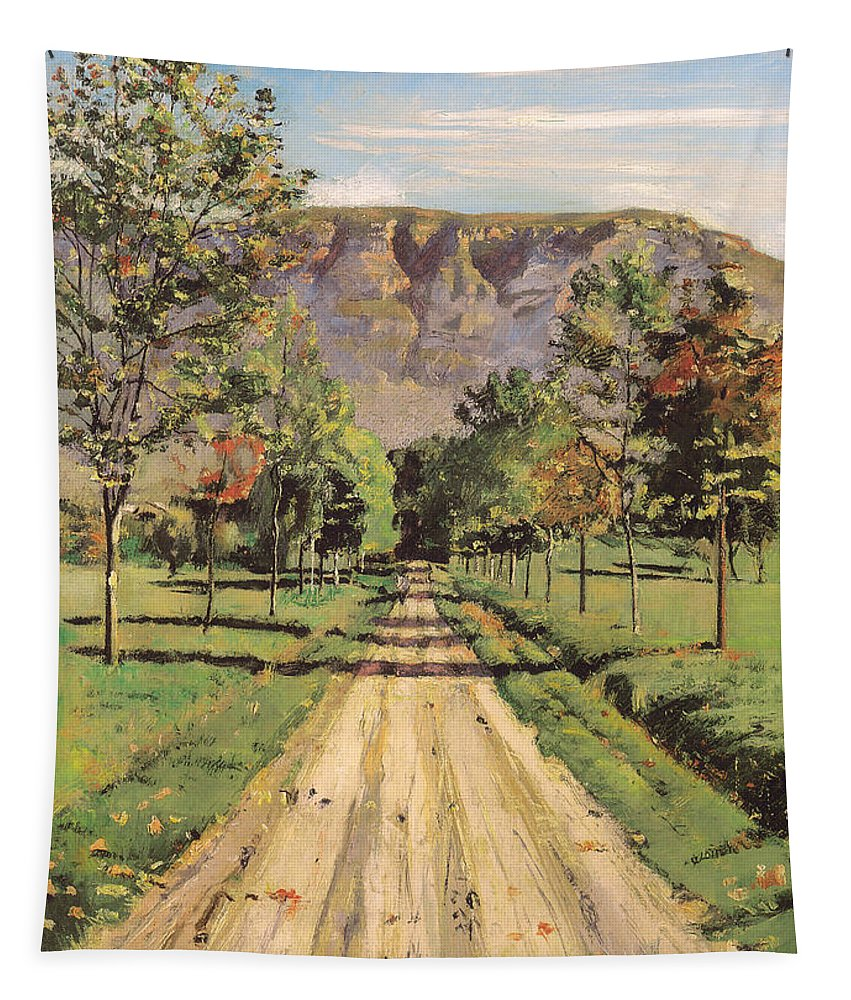 Painting Tapestry featuring the painting The Road To Evordes by Mountain Dreams