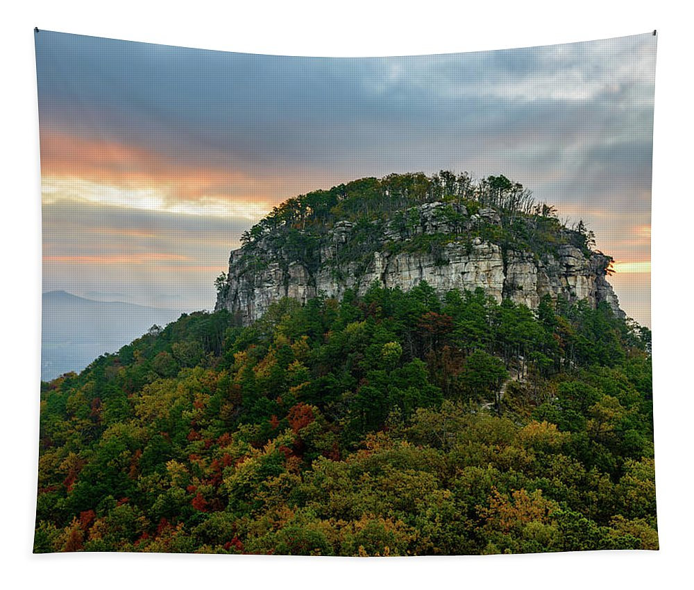 Fall Tapestry featuring the photograph The Rock by Michael Scott