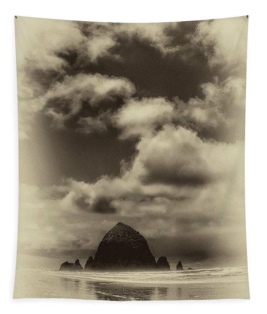 Cannon Beach Tapestry featuring the photograph The Rock Of Paradise by David Patterson