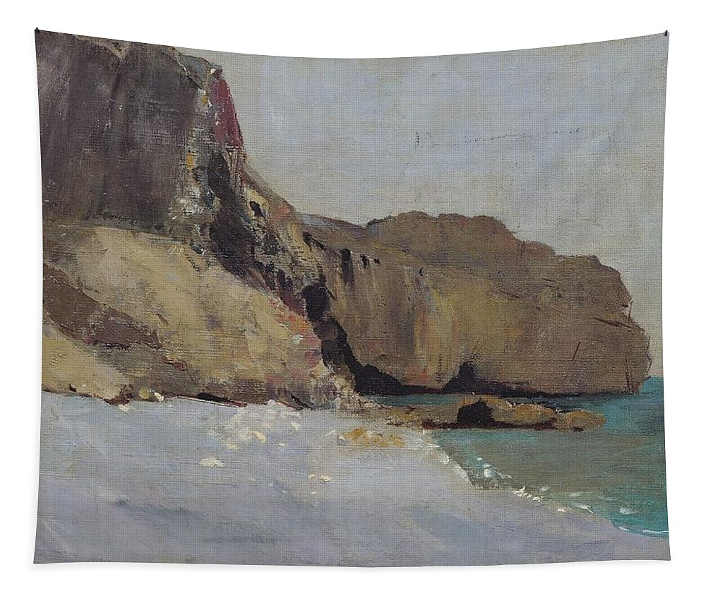 The Tapestry featuring the painting The Rocks At Vallieres by Odilon Redon