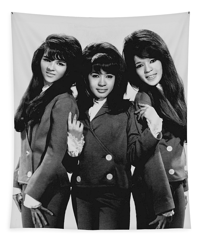 Publicity Photo Tapestry featuring the photograph The Ronettes 1966 by Mountain Dreams