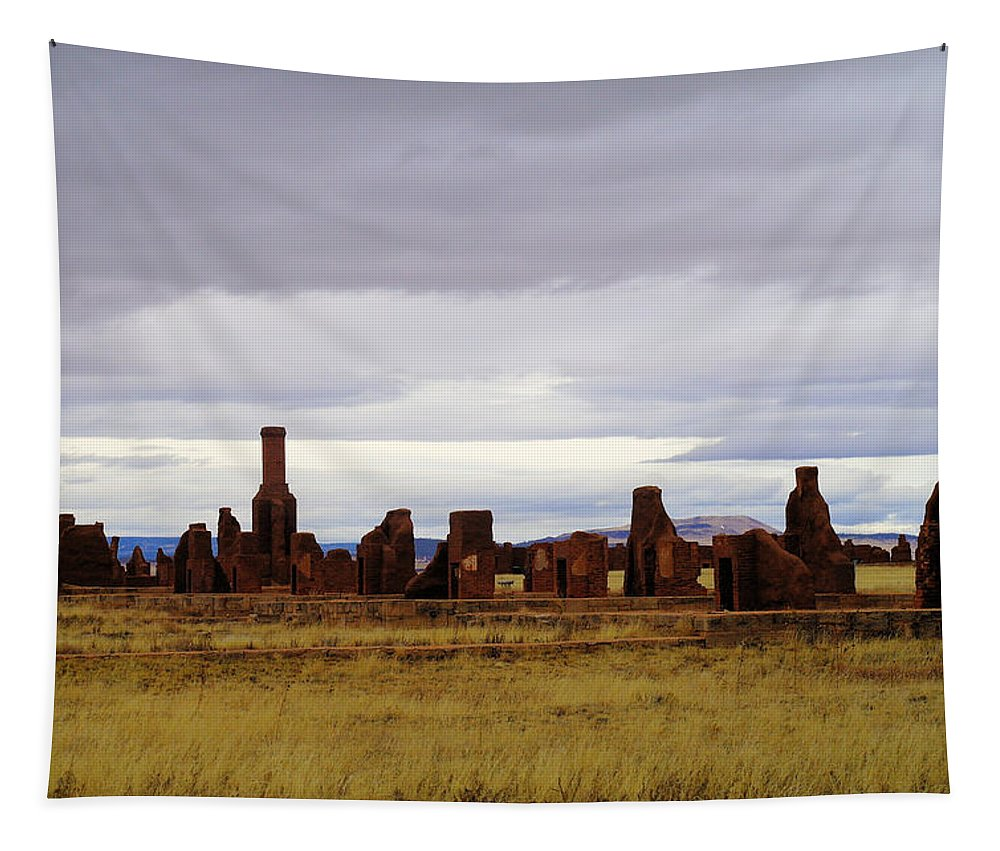 New Mexico Tapestry featuring the photograph The Ruins Of Fort Union by Jeff Swan