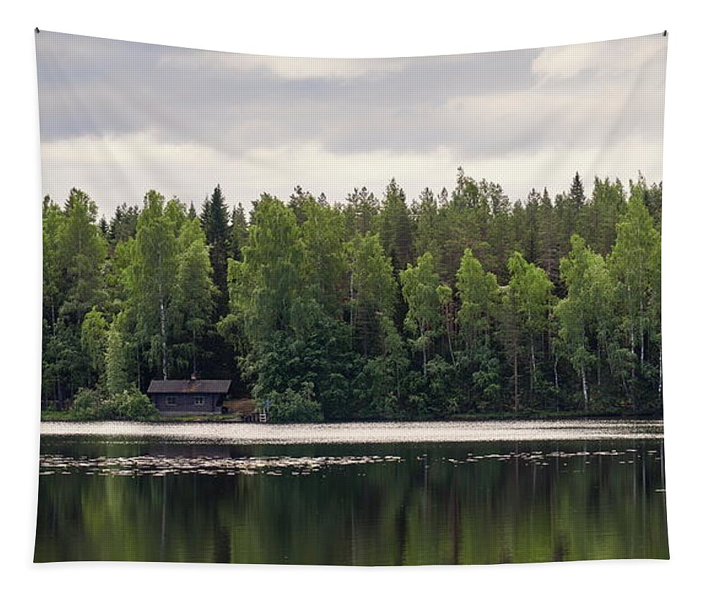 Finland Tapestry featuring the photograph The Sauna Of Kintulammi by Jouko Lehto