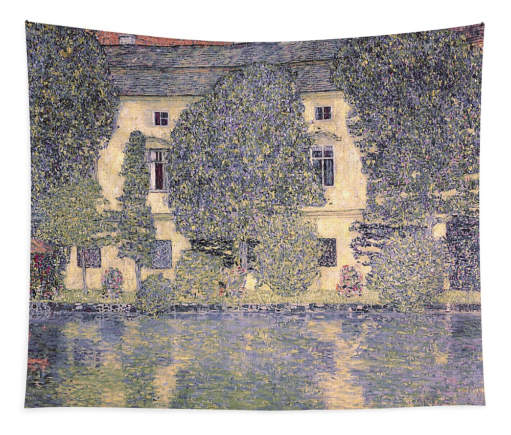 The Tapestry featuring the painting The Schloss Kammer On The Attersee IIi by Gustav Klimt