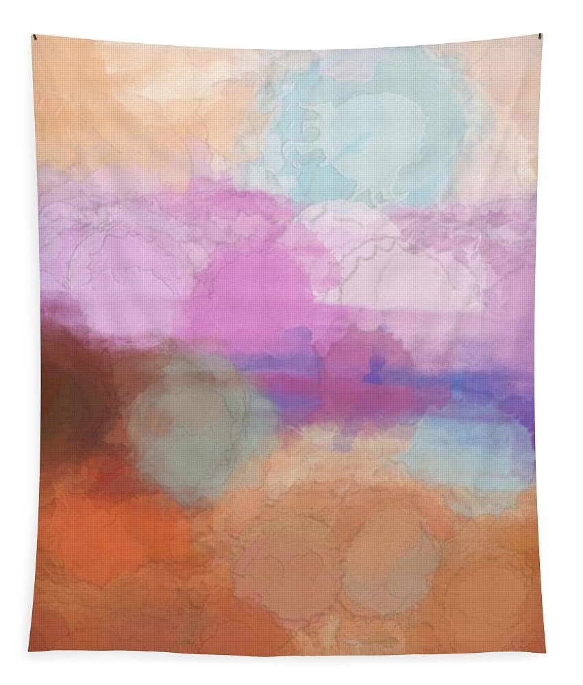 Watercolor Tapestry featuring the mixed media The Sea That Dreams Are Made Of by Debra Lynch