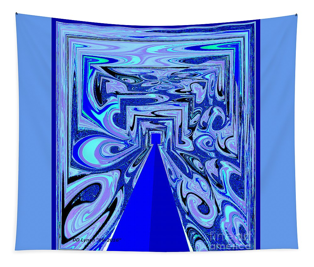 Abstract Tapestry featuring the digital art The Secret Room Abstract by Debra Lynch