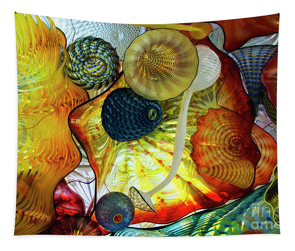 Shape Of Color Tapestry featuring the photograph The Shape Of Color 3 by Bob Christopher