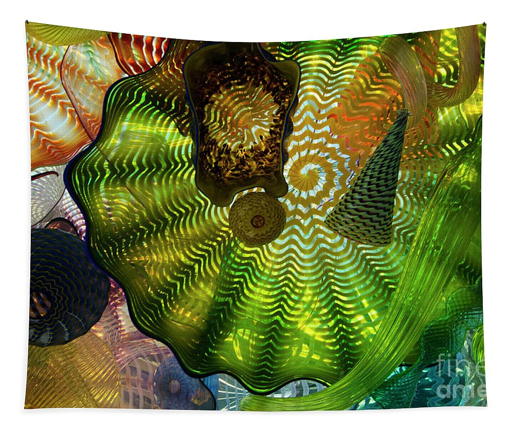Shape Of Color Tapestry featuring the photograph The Shape Of Color 4 by Bob Christopher