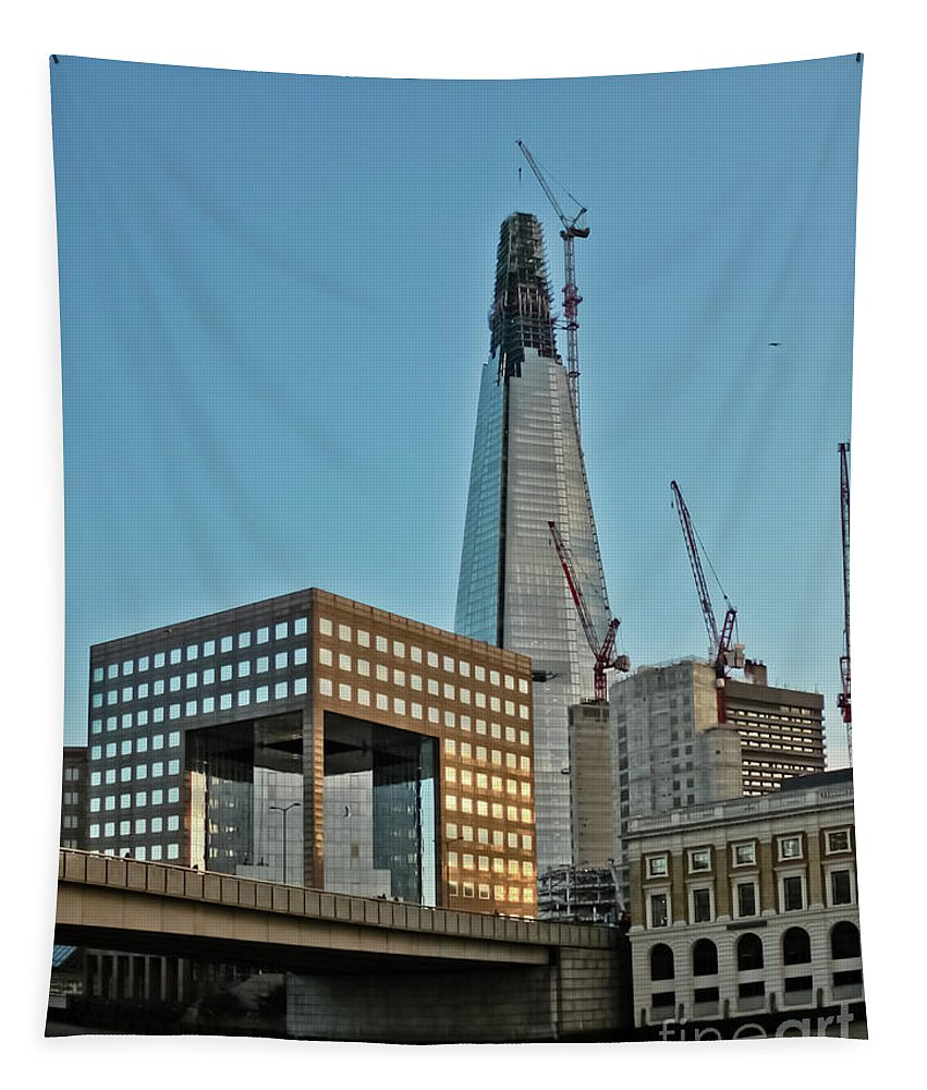 The Shard Tapestry featuring the photograph The Shard London Bridge by Terri Waters