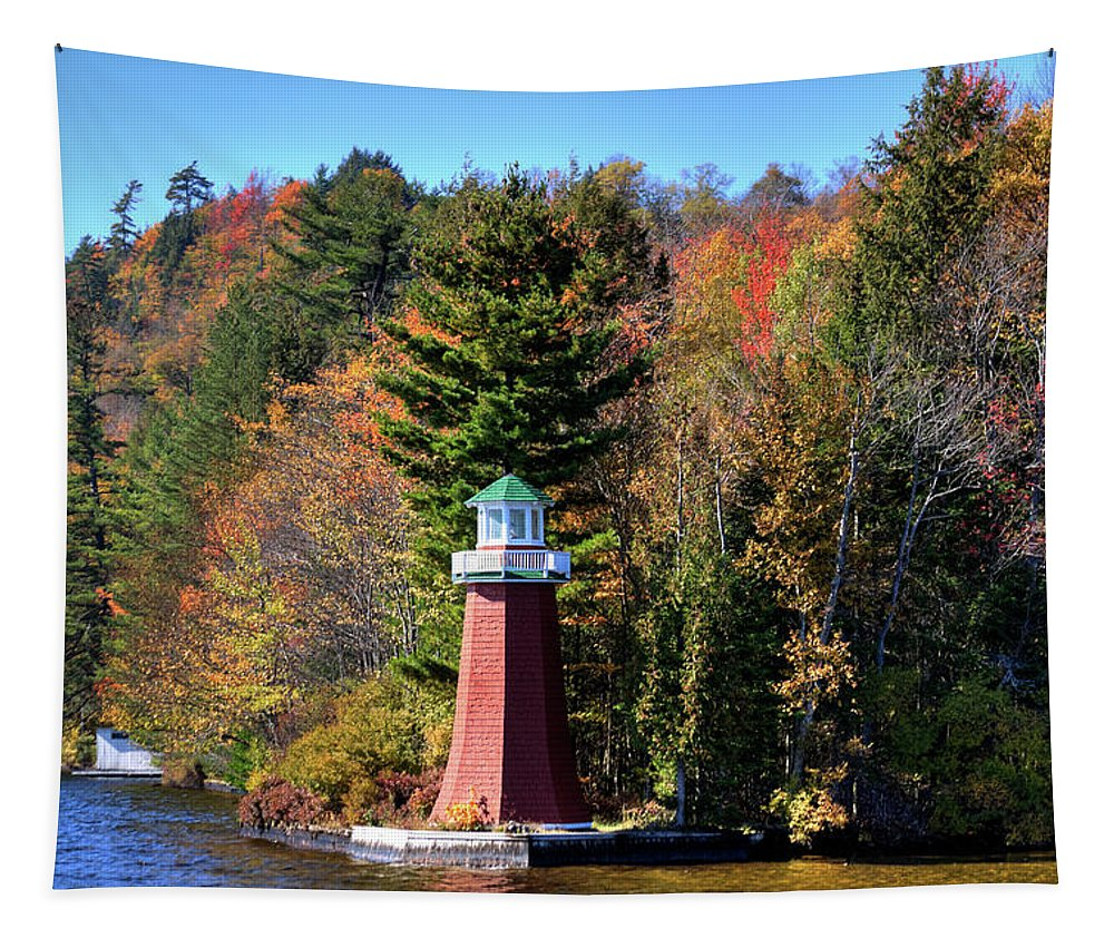 The Shoul Point Lighthouse Tapestry featuring the photograph The Shoul Point Lighthouse by David Patterson