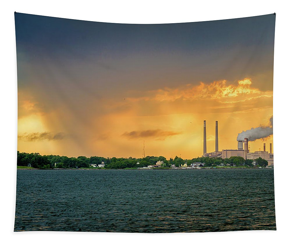 2d Tapestry featuring the photograph The Sky Is Falling by Brian Wallace