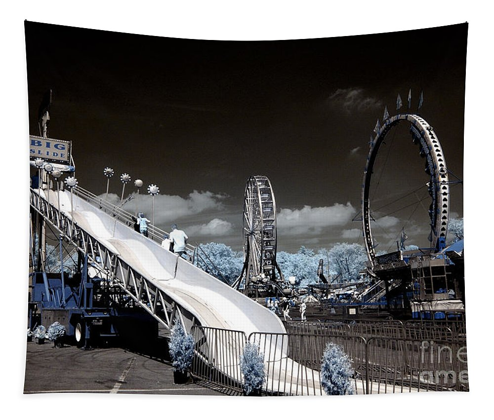 Infrared Tapestry featuring the photograph The Slide by Paul W Faust - Impressions of Light