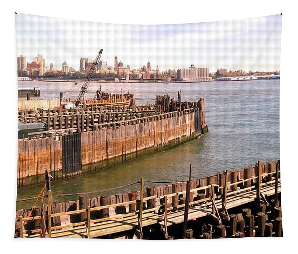 Panorama Tapestry featuring the photograph The Slips by Robert McCulloch