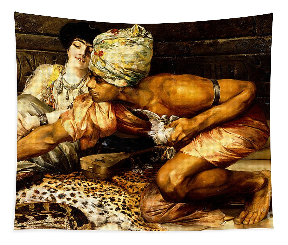 The Snake Charmer Tapestry featuring the painting The Snake Charmer by Eugene Pavy