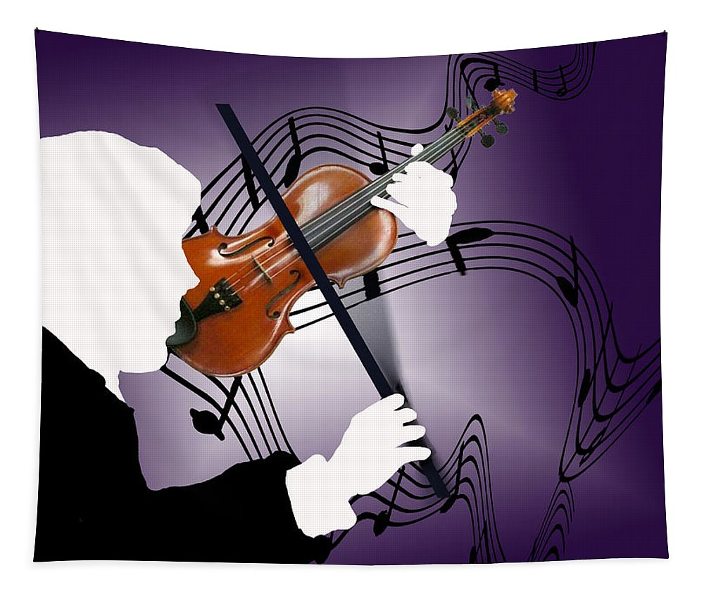 Violin Tapestry featuring the digital art The Soloist by Steve Karol