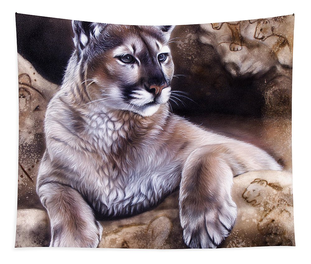 Wildlife Tapestry featuring the painting The Source Iv by Sandi Baker
