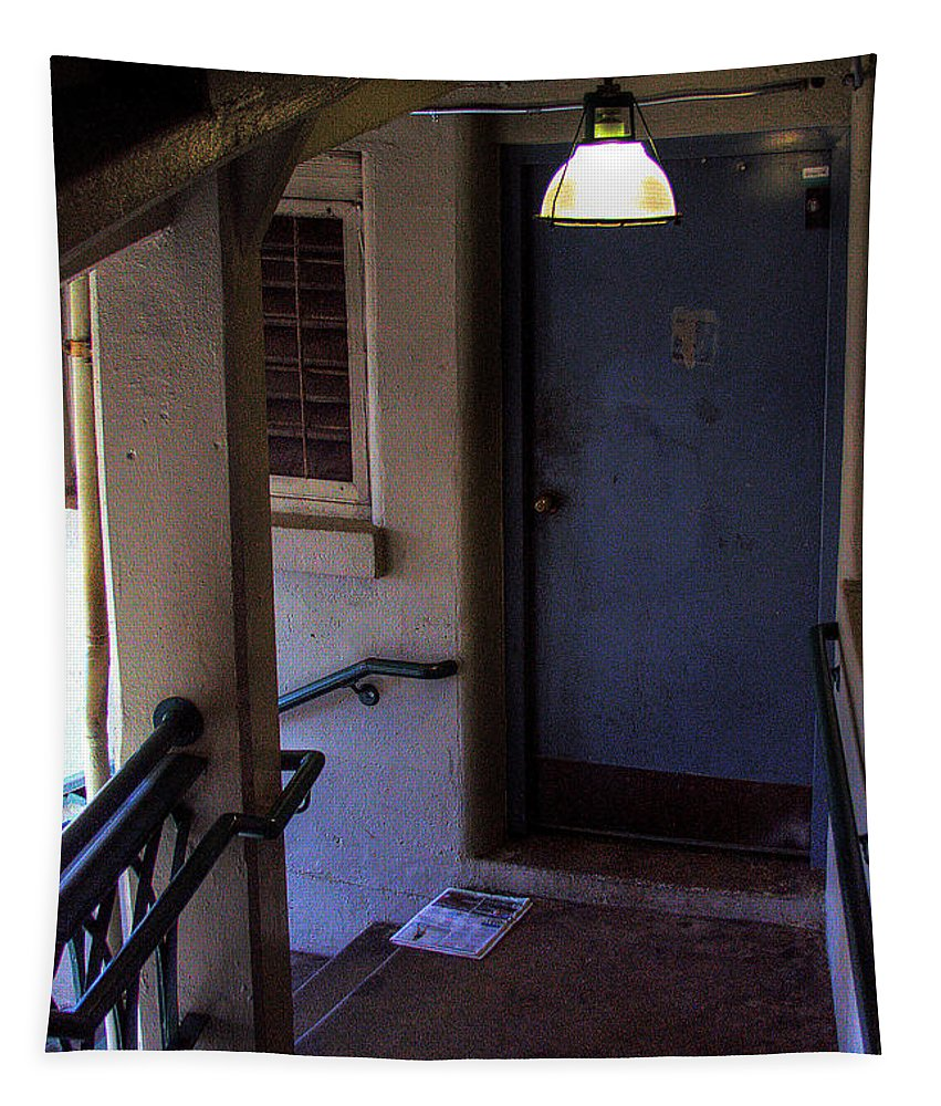 Stairs Tapestry featuring the photograph The Stairwell by David Patterson