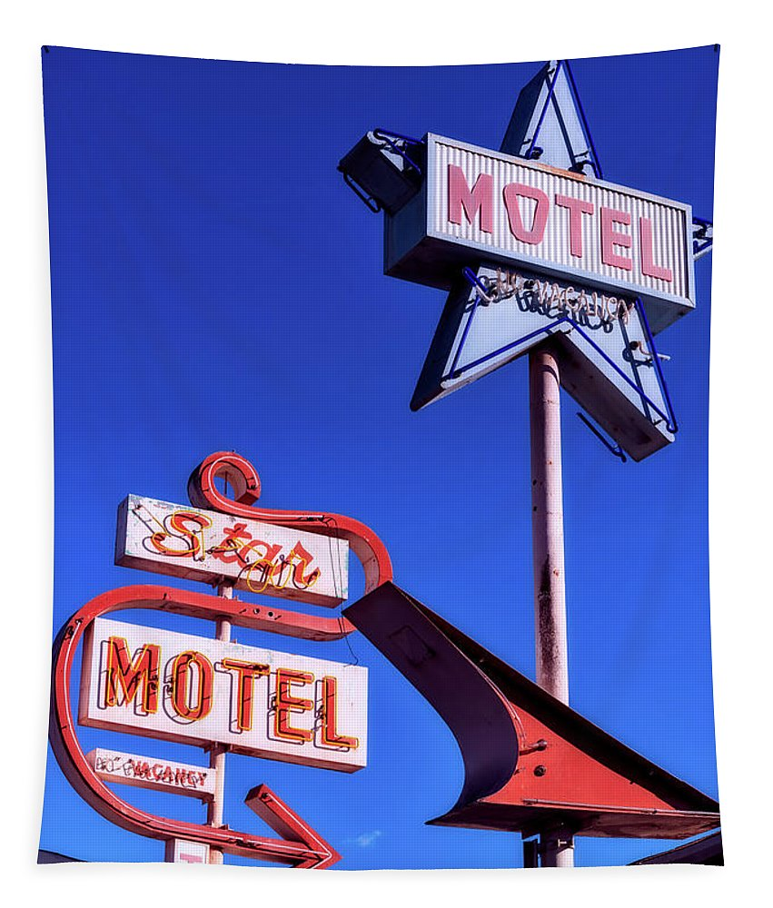 Star Motel Tapestry featuring the photograph The Star Motel by Mountain Dreams