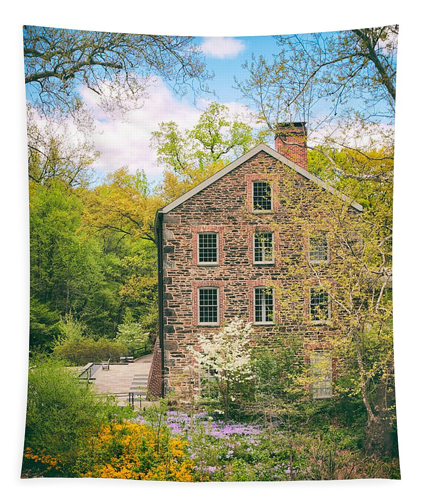 Stone Mill Tapestry featuring the photograph The Stone Mill In Spring by Jessica Jenney