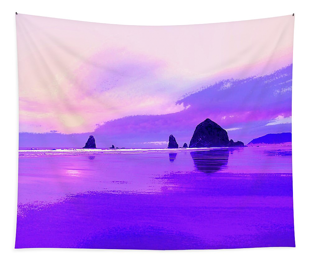 Beach Tapestry featuring the photograph The Strand At Daybreak by Dominic Piperata