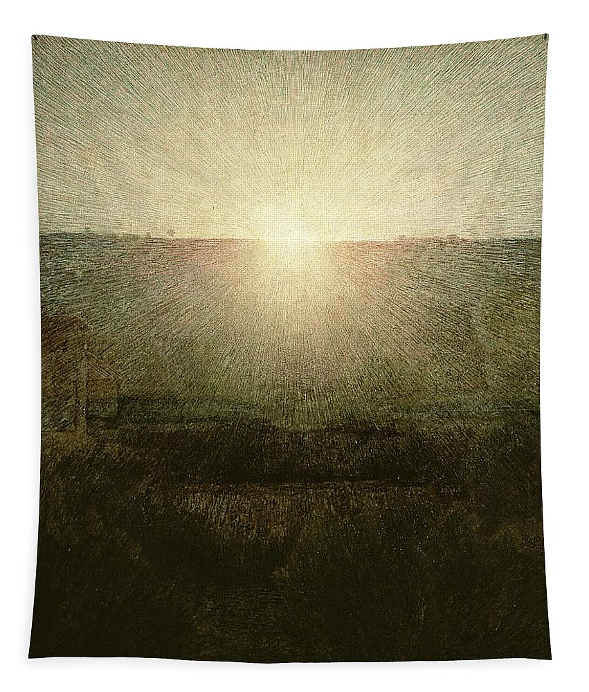 The Tapestry featuring the painting The Sun by Giuseppe Pellizza da Volpedo