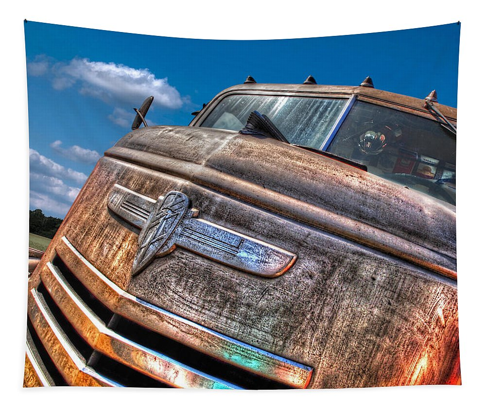 Chevrolet Truck Tapestry featuring the photograph The Survivor - '42 Chevy by Gill Billington