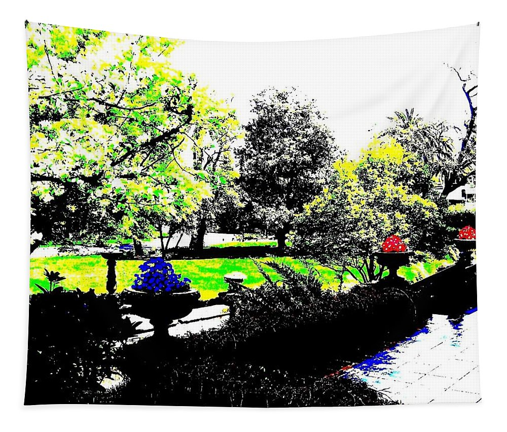 Terrace Tapestry featuring the digital art The Terrace by Will Borden