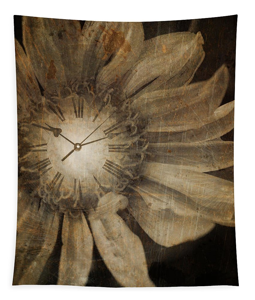 Clock Tapestry featuring the photograph The Time Keeper by Tara Turner