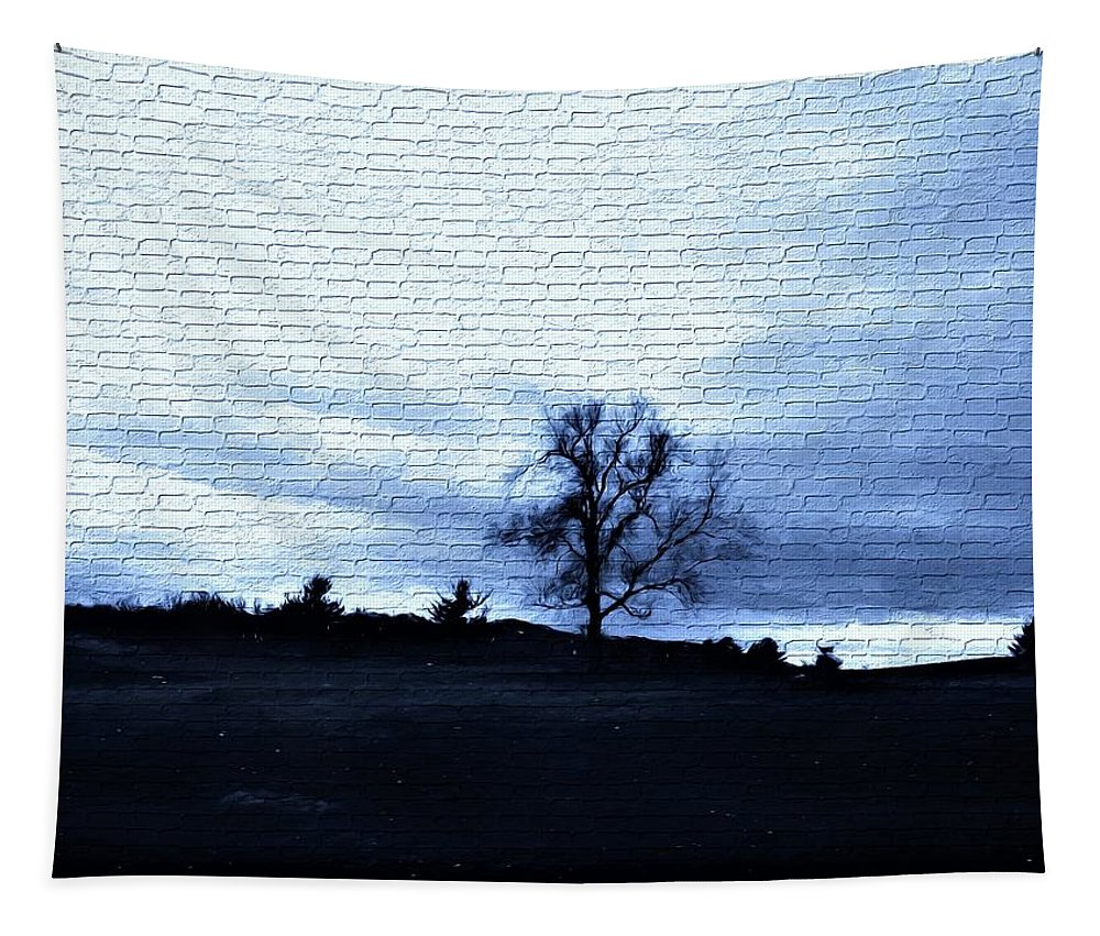 Trees Tapestry featuring the mixed media The Trees In Winter by Debra Lynch
