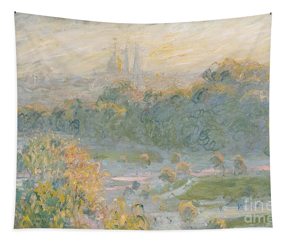Claude Monet Tapestry featuring the painting The Tuileries by Claude Monet