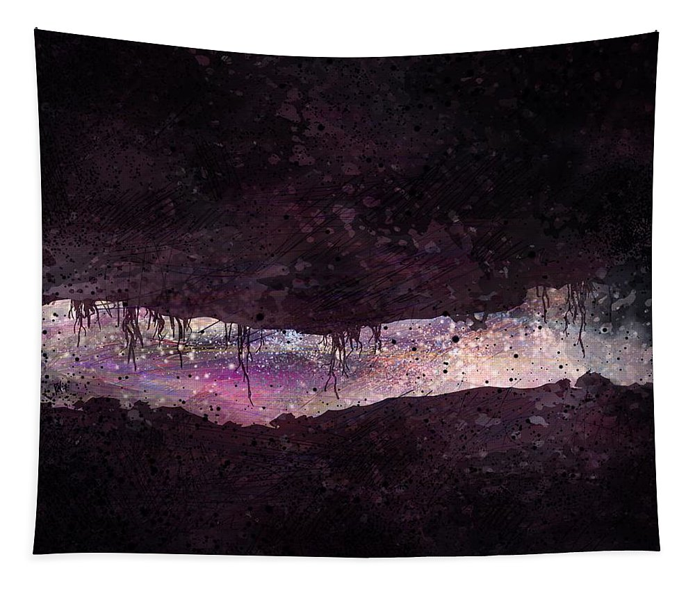 Tunnel Tapestry featuring the digital art The Tunnel by William Russell Nowicki