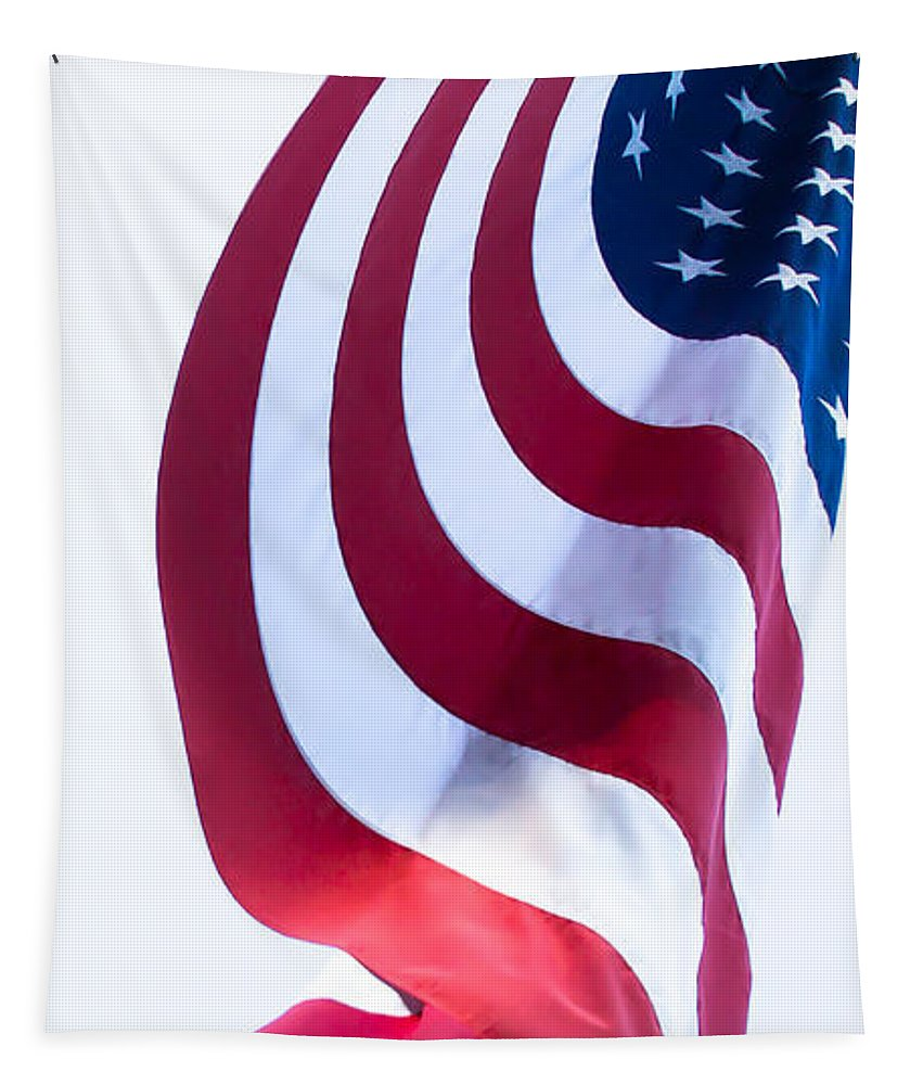 Flag Tapestry featuring the photograph The United States Flag by David Patterson