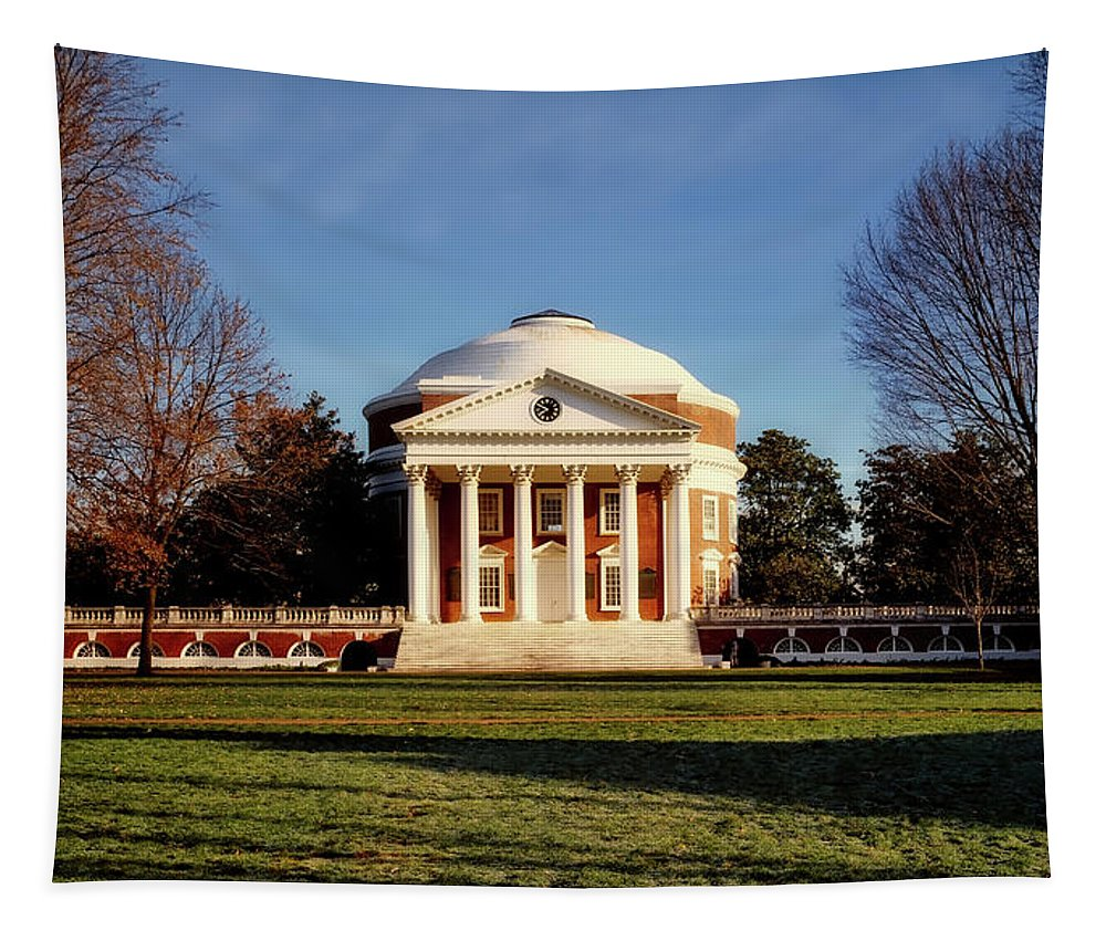University Of Virginia Tapestry featuring the photograph The University Of Virginia Rotunda by Mountain Dreams