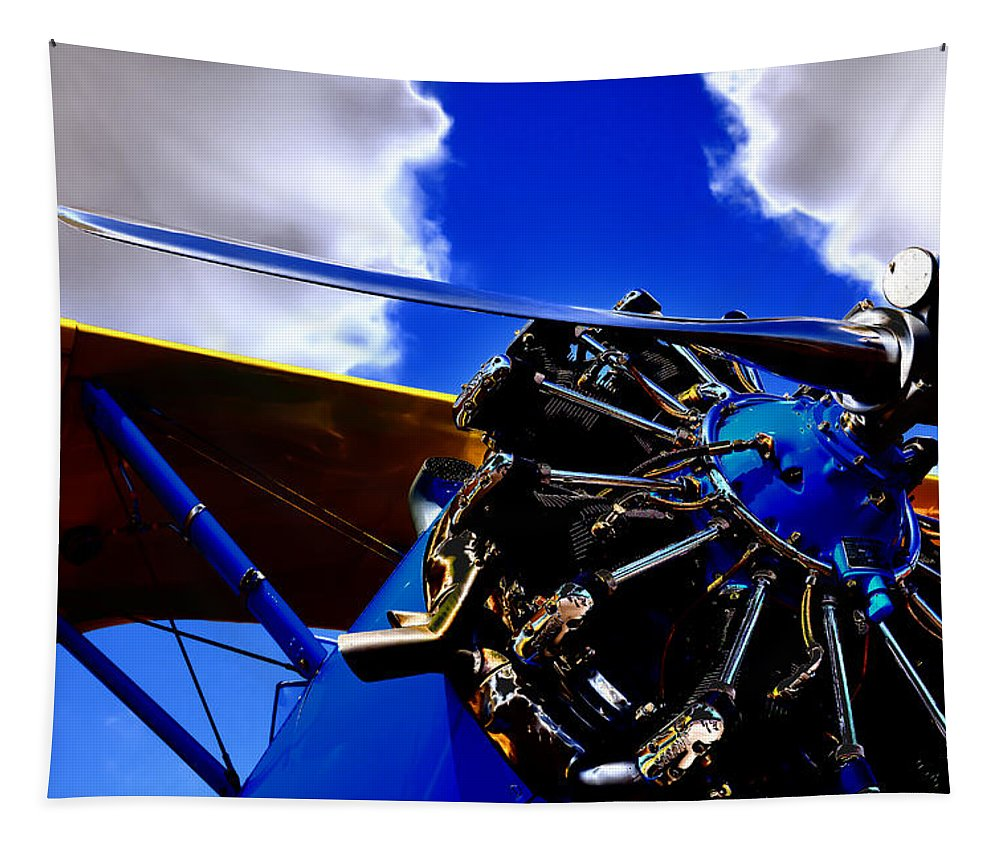 The Vintage 1940 Stearman Pt-18 Tapestry featuring the photograph The Vintage 1940 Stearman Pt-18 by David Patterson