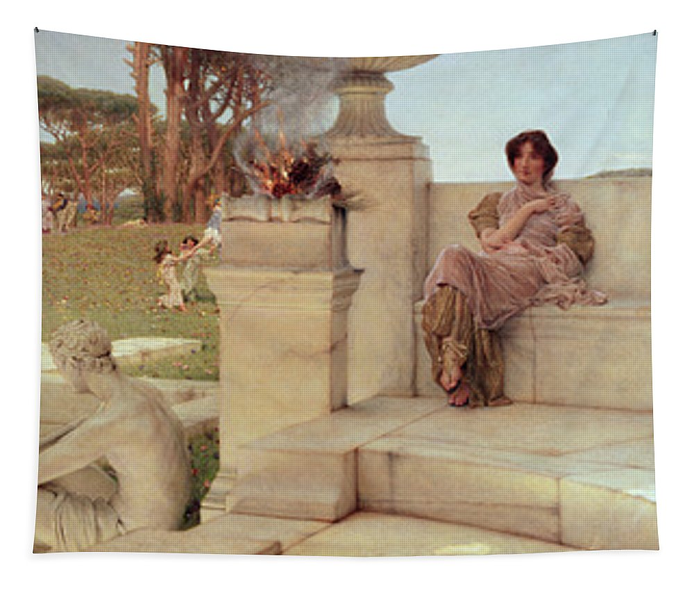 The Tapestry featuring the painting The Voice Of Spring by Sir Lawrence Alma-Tadema