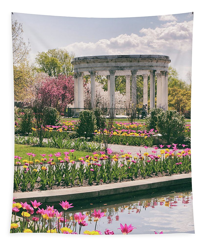 Untermyer Garden Tapestry featuring the photograph The Walled Garden by Jessica Jenney