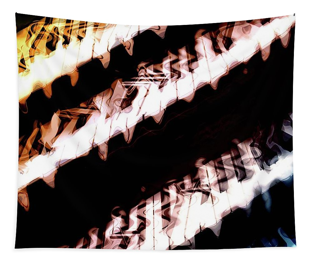 Keyboard Tapestry featuring the photograph The Wave Station by Linda Sannuti