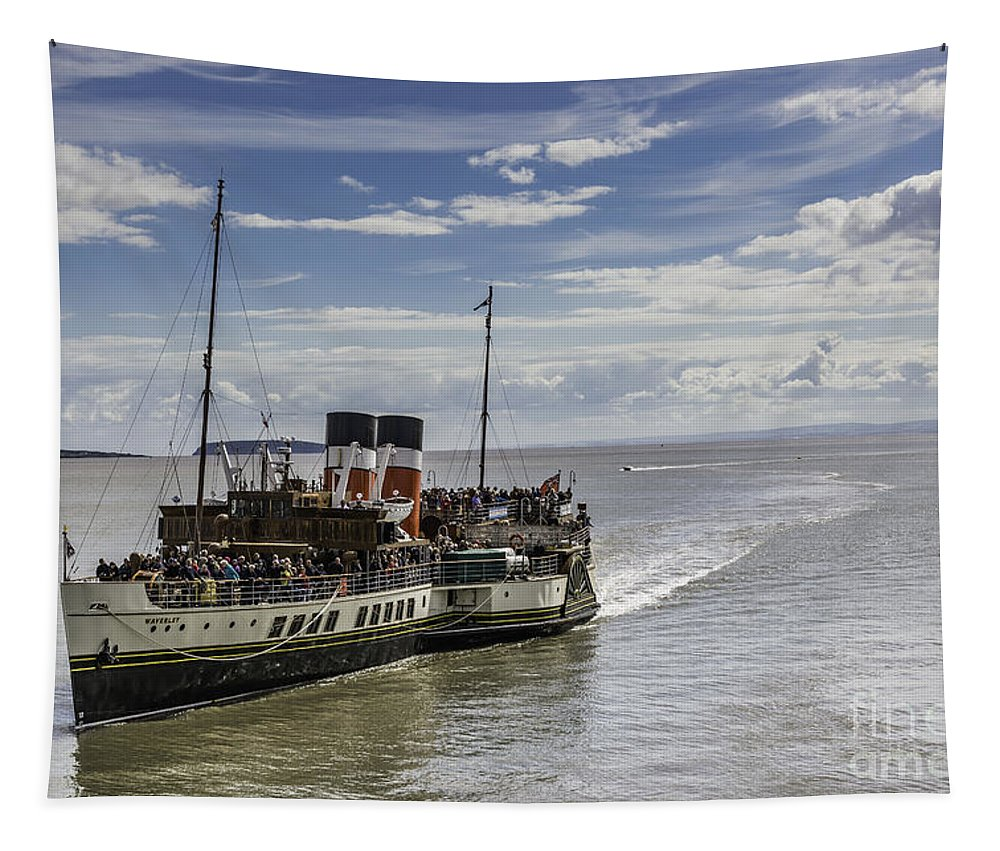 The Waverley Paddle Steamer Tapestry featuring the photograph The Waverley 3 by Steve Purnell
