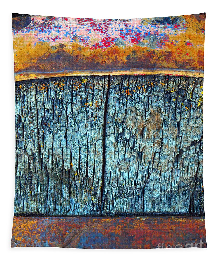 Texture Tapestry featuring the photograph The Wheelbarrow by Tara Turner